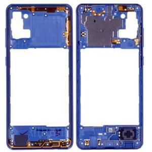 Genuine Samsung Galaxy A31 (A315F) Middle Frame Blue - Part No: GH98-45428D