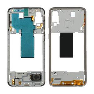 Genuine Samsung Galaxy A40 (A405F) Middle Frame White - Part No: GH97-22974B