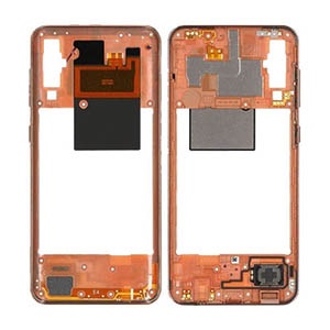 Genuine Samsung Galaxy A50 (A505F) Middle Cover Coral - Part No: GH97-23209D