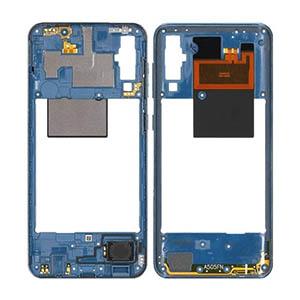 Genuine Samsung Galaxy A50 (A505F) Middle Cover Blue - Part No: GH97-23209C