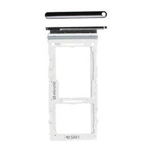 Genuine Samsung Galaxy A90 5G (A908F) SIM/SD Card Holder In Black - Part No: GH98-44656A