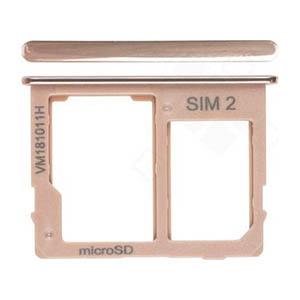 Genuine Samsung Galaxy J4+ (SM-J415F) Sim/SD Holder In Gold - Part No: GH64-07065E