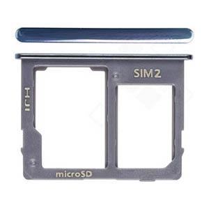 Genuine Samsung Galaxy J4+, J6+ 2018 Sim/SD Holder In Grey - Part No: GH64-07065C