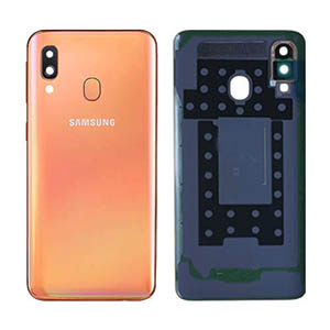 Genuine Samsung Galaxy A40 (A405F) Back Cover In Coral - Part No: GH82-19406D