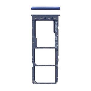 Genuine Samsung Galaxy A10 (A105F) Sim/SD Card Holder Blue - Part No: GH98-44169B