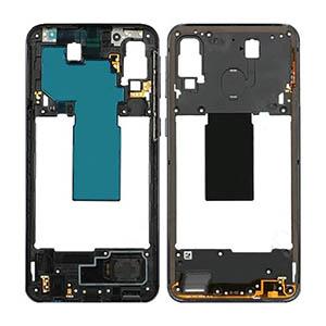 Genuine Samsung Galaxy A40 (A405F) Middle Frame Black - Part No: GH97-22974A