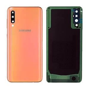Genuine Samsung Galaxy A50 (A505F) Back Cover Coral - Part No: GH82-19229D