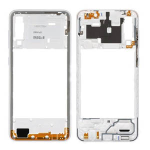 Genuine Samsung Galaxy A30s SM-A307F Middle Frame In White - Part no: GH98-44765D