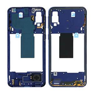 Genuine Samsung Galaxy A40 (A405F) Middle Frame Blue - Part No: GH97-22974C