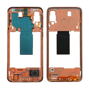 Genuine Samsung Galaxy A40 (A405F) Middle Frame Coral - Part No: GH97-22974D