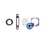 iPhone 6 Camera Lens, Charging Connector Ring, Flash Light Lens and Rear Camera Holder in Gold