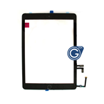 iPad Air Digitizer in Black with Parts HQ - Note: Please use your existing home button otherwise will not function to sleep mode - AG factory