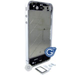 iphone 4 centre board with home button, sim holder in white- Replacement part (compatible)