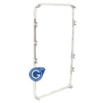iphone 4s compatible mid frame in white- Replacement part (Compatible)