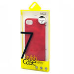 Stylish iPhone 7 Faux Leather Back Cover Case in Red