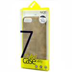 Stylish iPhone 7 Plus Faux Leather Back Cover Case in Beige