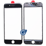 iPhone 7 Glass Lens with Bezel Frame in Black