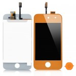iPod touch 4 Complete LCD with digitiser in Orange- Replacement part (compatible)