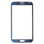 Samsung i9500/i9505 Galaxy S4 Glass Lens with Adhesive in Pebble Dark Blue