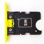 Genuine Nokia Lumia 1020 Original Sim Card Tray (Yellow)  P/N:0269C76, Sim Card Drawer, Sim Card Holder