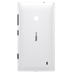 Genuine Nokia Lumia 520 Battery Cover in White - Nokia Part Number: 02502Z7