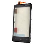 Genuine Nokia Lumia 820 Front Cover + Touchscreen - Nokia Part Code: 00805X6