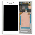 Genuine Sony Xperia M2 (D2303) Complete Lcd with Digitizer and Frame in White- Sony part no: 78P7120003N (Grade B)