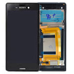 Genuine Sony Xperia M4 Aqua Dual (E2333) Complete Display Lcd with Digitiser Assembly in Black-Sony part no: 124TUL0015A