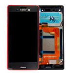 Genuine Sony Xperia M4 Aqua (E2303)  Complete Lcd with Digitizer and Frame in Coral- Sony part no: 124TUL0012A (Grade B)