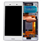 Genuine Sony Xperia M4 Aqua (E2303) Complete Lcd with Digitizer and Frame in Silver- Sony part no: 124TUL0013A (Grade B)