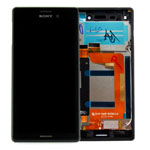 Genuine Sony Xperia M4 Aqua (E2303) Complete Front Lcd with Digitizer Touchscreen in Black-Sony part no: 124TUL0011A