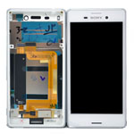 Genuine Sony Xperia M4 Aqua Dual (E2333) Complete Display Lcd with Digitizer Touchscreen in White-Sony part no: 124TUL0014A