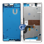 Sony Xperia M5 Centre Frame / Chrome Bezel with small plug in White