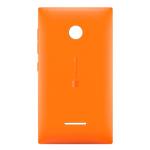 Genuine Microsoft Lumia 435 Battery Cover in Orange-Microsoft part no: 02508V0