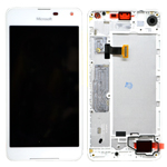 Genuine Microsoft Lumia 650 Complete Lcd with Digitizer Touchscreen in White- Microsoft part no: 00814H6