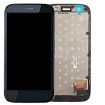 Motorola Moto G (XT1032) Complete Lcd and digitzer with frame in Black
