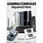 New Series A3 Gaming Consoles repaired here poster