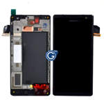 Genuine Nokia Lumia 735 Complete lcd with frame and touchpad in black -Nokia part no: 00813B2
