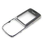 Genuine Nokia C2-01 Front Cover (Silver Gloss)- Nokia part no: 0258349