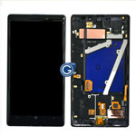Genuine Nokia Lumia 930 Complete lcd with frame, touchpad and flex in Black -Part no: 00812k9