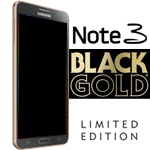 Genuine Samsung SM-N9005 Galaxy Note 3 Complete lcd and digitzer with frame in Black/Gold - Part no: GH97-15209F