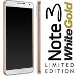 Genuine Samsung SM-N9005 Galaxy Note 3 Complete lcd and digitzer with frame in White/Gold -Samsung Part no: GH97-15209E
