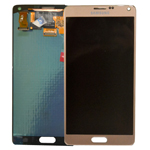 Samsung Galaxy Note 4 SM-N910F Lcd and touchpad in GOLD - Samsung Part number: GH97-16565C