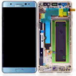 Genuine Samsung Galaxy Note 7 (SM-N930F)  Complete Lcd with touchpad and frame complete in Blue- Samsung part no: GH97-19302F