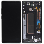 Genuine Samsung Galaxy Note 8 (N950) Complete lcd with frame in black  Part no: GH97-21065A