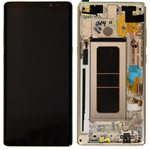 Genuine Samsung Galaxy Note 8 (N950) Complete lcd with frame in Gold Part no: GH97-21065D