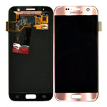Genuine Samsung S7 (G930 (USA); G930F (Global); G930FD) Lcd and touchpad in Pink Gold - Part no: GH97-18523E