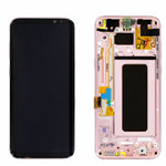 Genuine Samsung S8 Plus (SM-G955) Complete lcd and touchpad with frame assembly unit in Pink - Part no: GH97-20470E