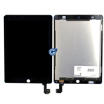 iPad Air 2 Complete lcd and touchpad assembly in Black - Complete lcd unit with flex and touchpad (14 days)