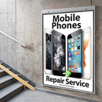 Newly Designed Mobile Phones Repair Service Poster in A2 - Medium Poster
